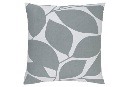 Accent Pillow-Leaflet Light Grey 20X20