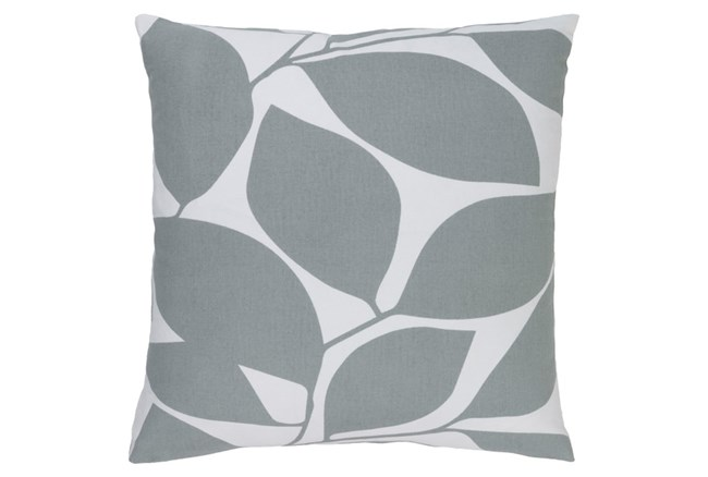 Accent Pillow-Leaflet Light Grey 20X20 - 360