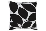 Accent Pillow-Leaflet Black/Light Grey 18X18 - Signature