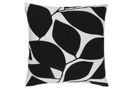 Accent Pillow-Leaflet Black/Light Grey 18X18