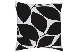 Accent Pillow-Leaflet Black/Light Grey 18X18