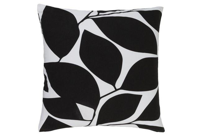 Accent Pillow-Leaflet Black/Light Grey 18X18 - 360