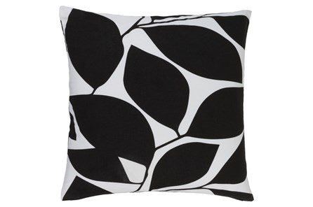 Accent Pillow-Leaflet Black/Light Grey 20X20 - Main