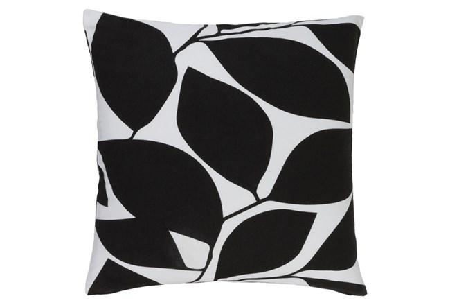 Accent Pillow-Leaflet Black/Light Grey 20X20 - 360