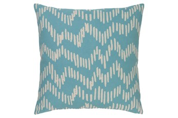 Accent Pillow-Charter Abstract Teal/Beige 20X20