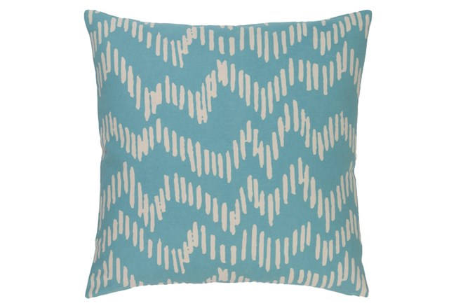 Accent Pillow-Charter Abstract Teal/Beige 20X20 - 360
