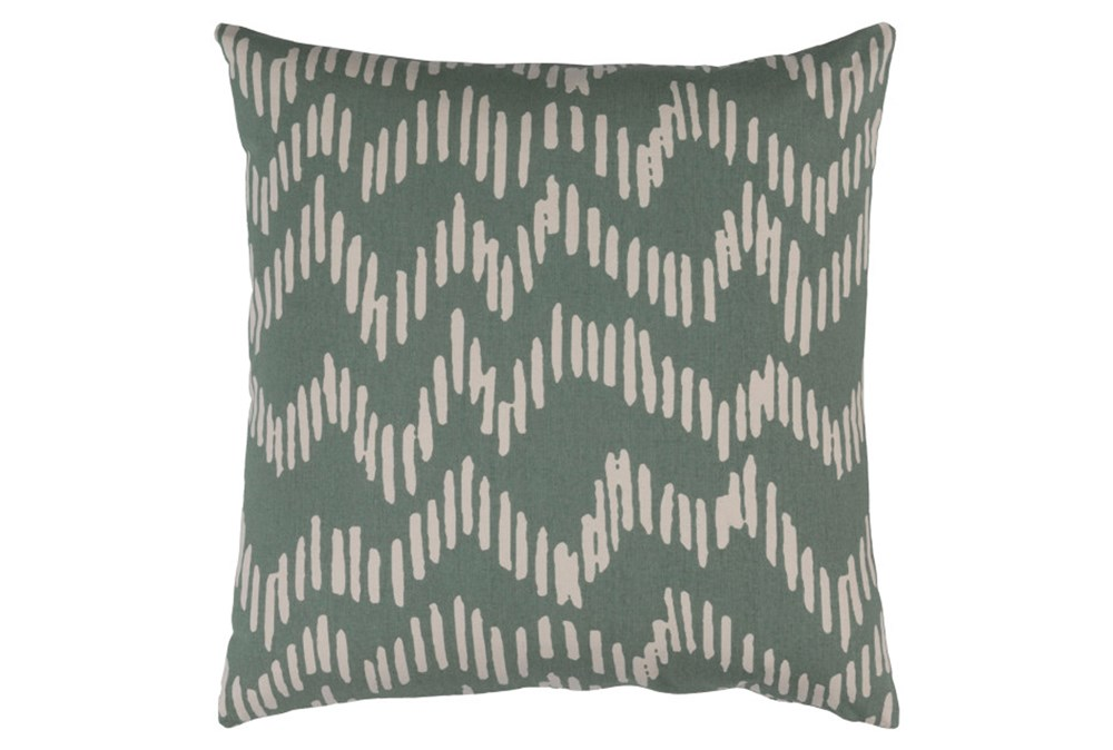 Accent Pillow-Charter Abstract Moss/Beige 18X18