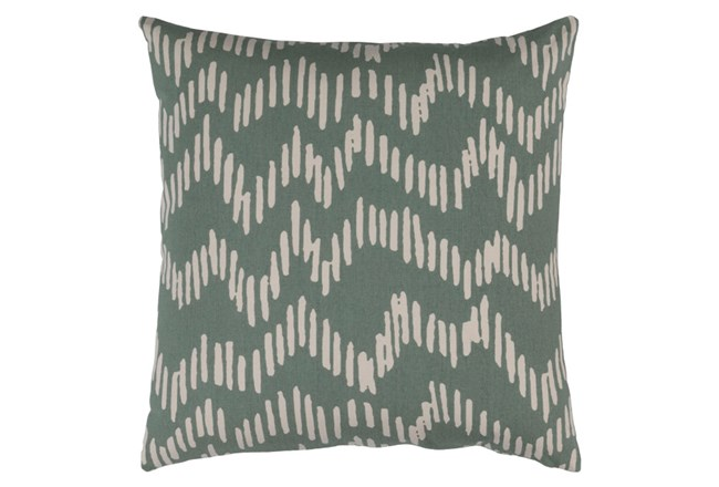 Accent Pillow-Charter Abstract Moss/Beige 18X18 - 360