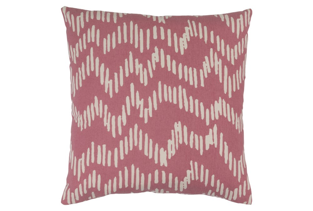 Accent Pillow-Charter Abstract Salmon/Beige 18X18