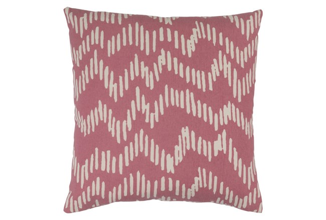 Accent Pillow-Charter Abstract Salmon/Beige 18X18 - 360