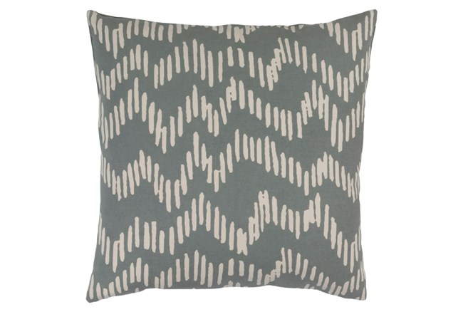 Accent Pillow-Charter Abstract Slate/Beige 18X18 - 360