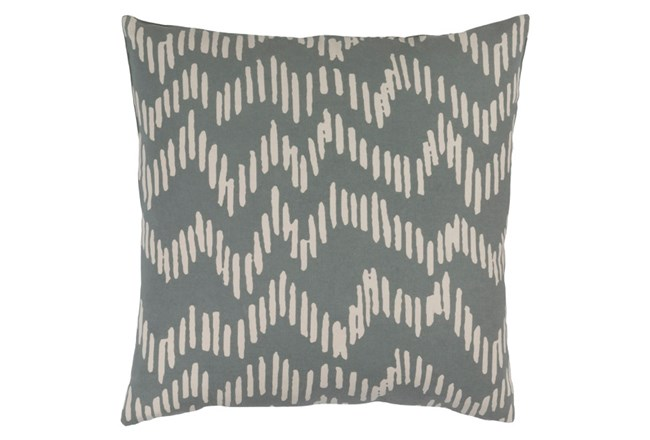 Accent Pillow-Charter Abstract Slate/Beige 20X20 - 360