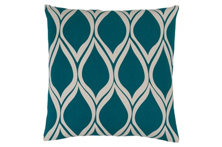 Accent Pillow-Nostalgia Geo Teal/Grey 20X20