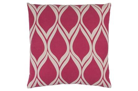 Accent Pillow-Nostalgia Geo Pink/Grey 18X18