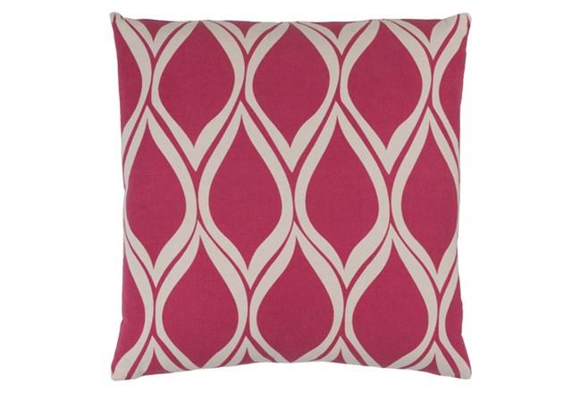 Accent Pillow-Nostalgia Geo Pink/Grey 18X18 - 360