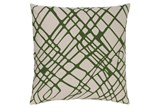 Accent Pillow-Artsy Abstract Olive 20X20 - Signature