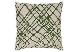 Accent Pillow-Artsy Abstract Olive 20X20