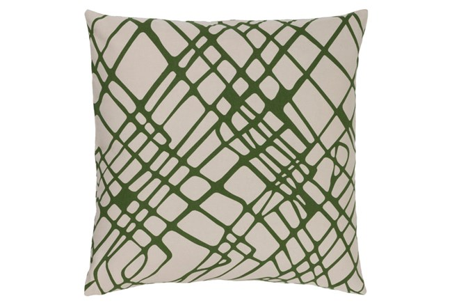 Accent Pillow-Artsy Abstract Olive 20X20 - 360