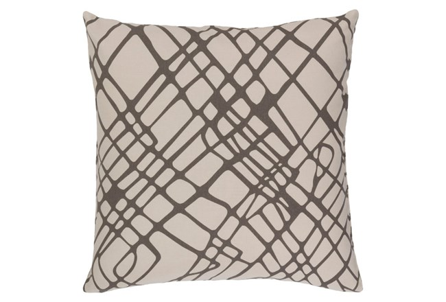 Accent Pillow-Artsy Abstract Grey 18X18 - 360