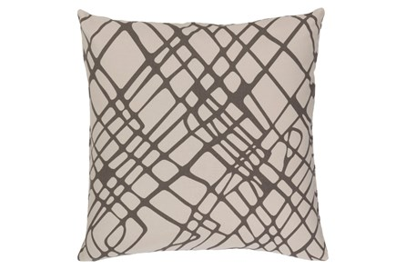 """Accent Pillow-Artsy Abstract Grey 2"""""""