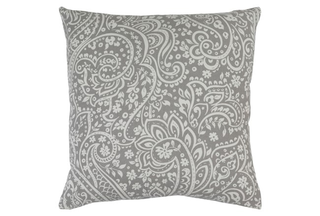 Accent Pillow-Paisley Grey/Ivory 18X18 - 360