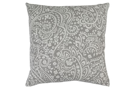 Accent Pillow-Paisley Grey/Ivory 20X20 - Main
