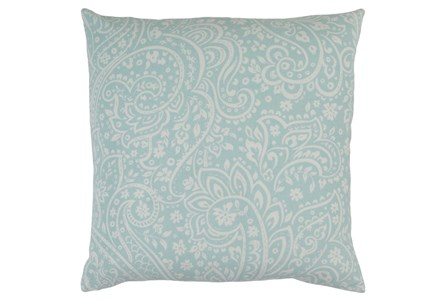Accent Pillow-Paisley Seafoam/Ivory 18X18