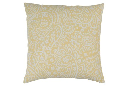 Accent Pillow-Paisley Butter 20X20