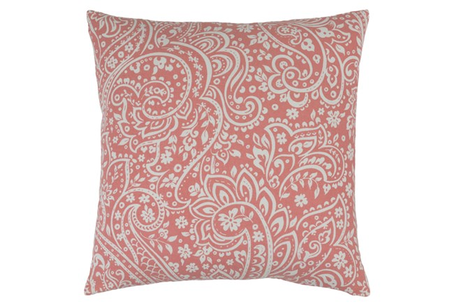 Accent Pillow-Paisley Coral/Ivory 20X20 - 360