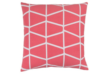 Accent Pillow-Stemsly Geo Pink/Ivory 20X20