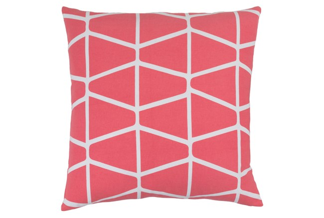 Accent Pillow-Stemsly Geo Pink/Ivory 20X20 - 360