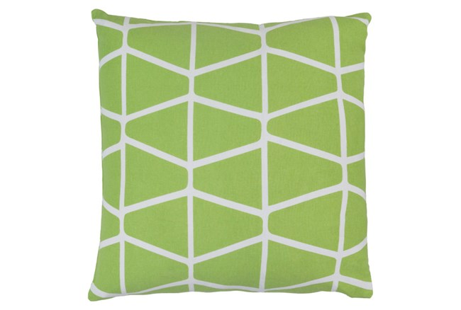 Promo Pillow-Stemsly Geo Lime/Ivory 18X18 - 360