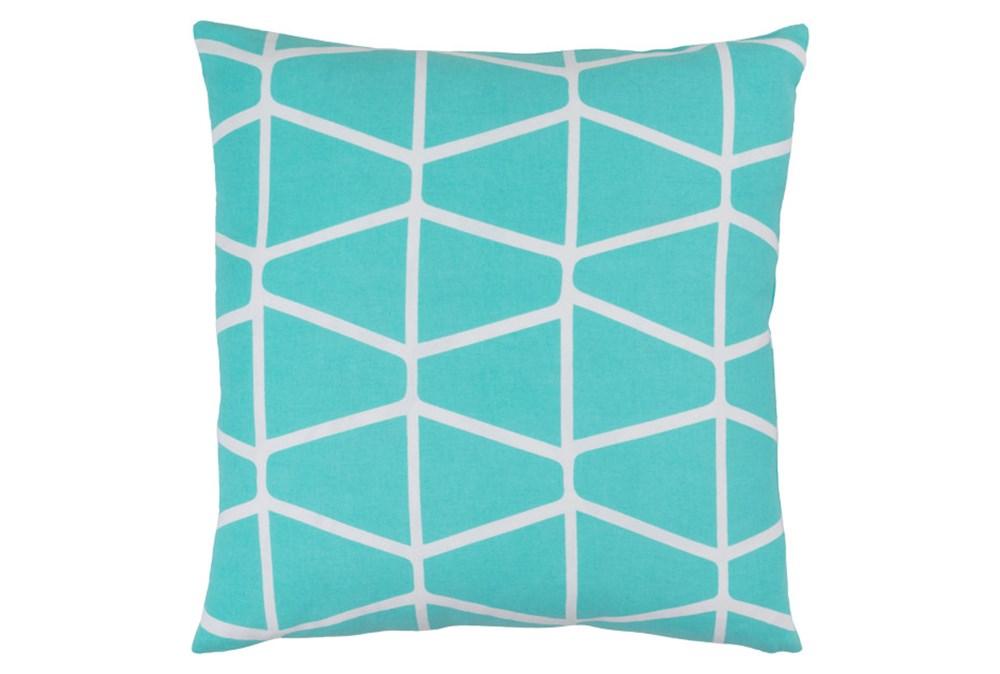 Accent Pillow-Stemsly Geo Aqua/Ivory 20X20