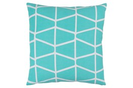 Accent Pillow-Stemsly Geo Aqua/Ivory 20X20