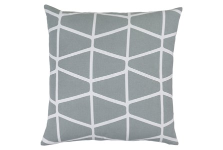 Accent Pillow-Stemsly Geo Light Grey/Ivory 18X18