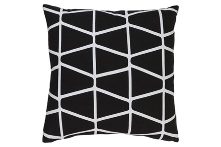 Accent Pillow-Stemsly Geo Black/Ivory 20X20 - Main