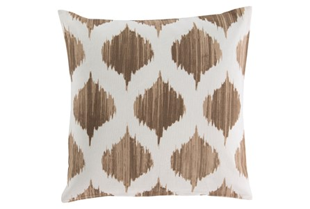 Accent Pillow-Deven Geo Mocha/Ivory 18X18