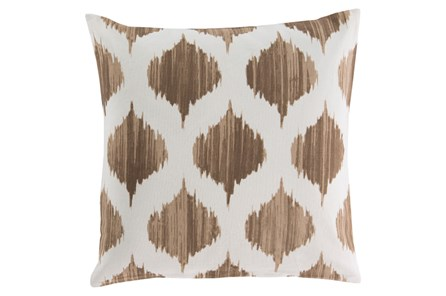 Accent Pillow-Deven Geo Mocha/Ivory 18X18 - Main
