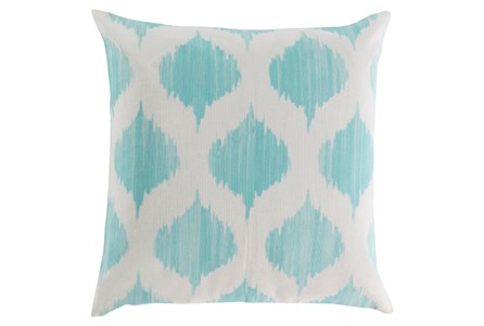 Accent Pillow-Deven Geo Mint/Ivory 18X18
