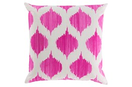 Accent Pillow-Deven Geo Magenta/Ivory 18X18