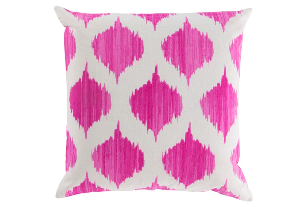Accent Pillow-Deven Geo Magenta/Ivory 22X22