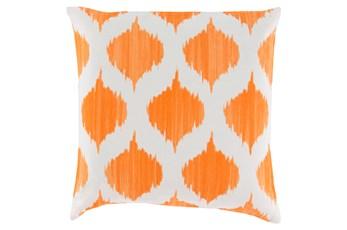 Accent Pillow-Deven Geo Orange/Ivory 18X18