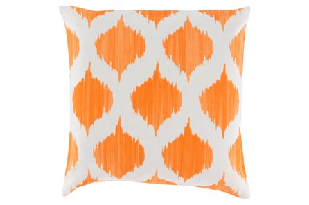 Accent Pillow-Deven Geo Orange/Ivory 18X18
