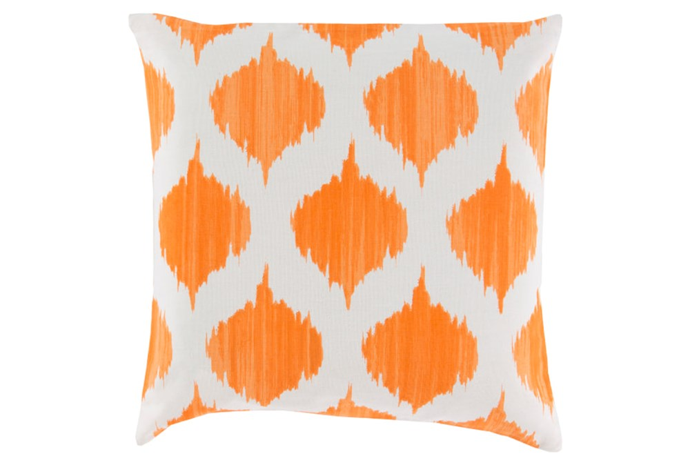 Accent Pillow-Deven Geo Orange/Ivory 22X22