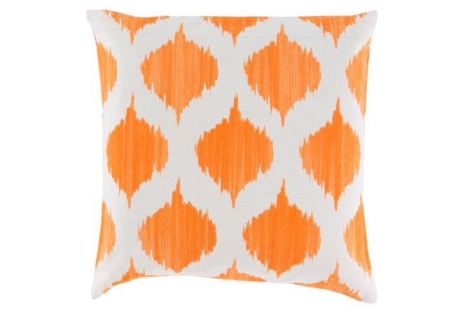Accent Pillow-Deven Geo Orange/Ivory 22X22 - 360