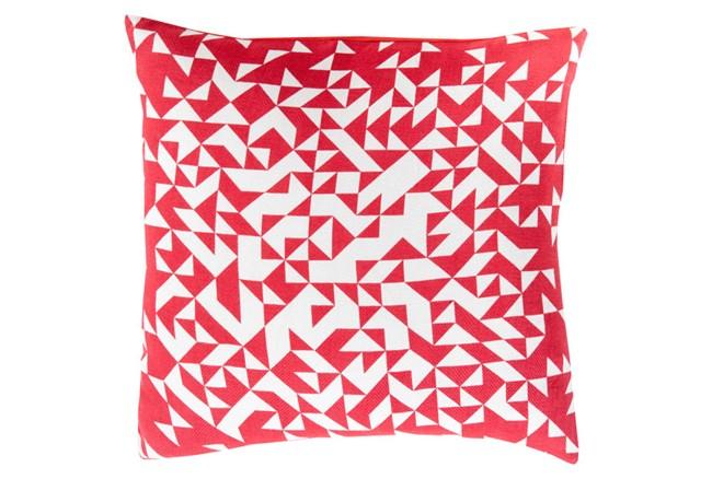 Accent Pillow-Eliza Pixel Magenta/Ivory 22X22 - 360