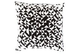 Accent Pillow-Eliza Pixel Charcoal/Ivory 22X22
