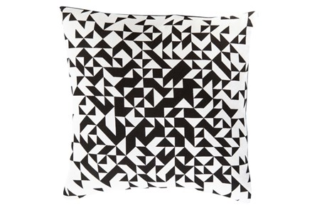Accent Pillow-Eliza Pixel Charcoal/Ivory 22X22