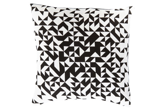 Accent Pillow-Eliza Pixel Charcoal/Ivory 22X22 - 360