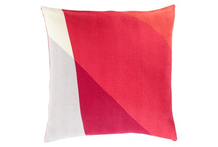Accent Pillow-Color Block Red Multi 22X22